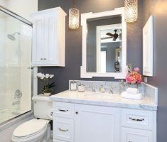 beautiful-small-bathroom-remodelling-with-hanging-white-cabinet-sink