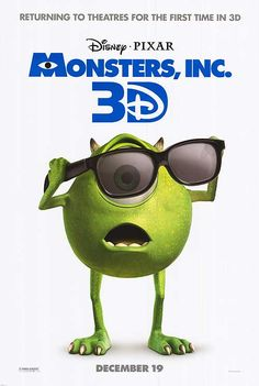 High resolution official theatrical movie poster ( of for Monsters, Inc. Image dimensions: 1215 x Starring John Goodman, Billy Crystal, Mary Gibbs, Steve Buscemi Disney Pixar, Disney Movies, Pixar Movies, Cartoon Movies, Disney Characters, Mike E Sulley, Mike Wazowski, Monster University, Monsters Inc
