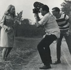 George Romero directing Night of the Living Dead graveyard scene