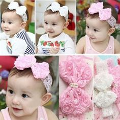 Baby Bow Pearl Laced Headwrap