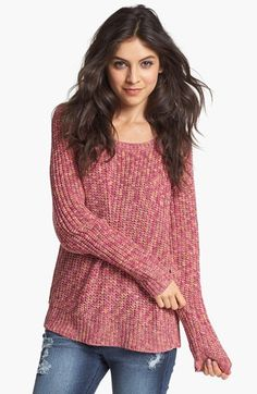 Rubbish® Marled Relaxed Sweater (Juniors)-31.90 at #Nordstrom