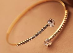Heart Meets Heart Rhinestone Bangle from LilyFair Jewelry, $16.99!