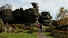 Brimham Rocks view onto Eagle Rock, Nidderdale, North Yorkshire
