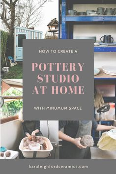 Creating a Pottery Space at Home (with Minimum Space) — Kara Leigh Ford Ceramics - My tips from years creating pottery from home, with minimum space and budget. Clay Studio, Ceramic Studio, Ceramic Art, Ceramic Bowls, Ceramic Mugs, Ceramic Fish, Stoneware, Pottery Kiln, Pottery Art