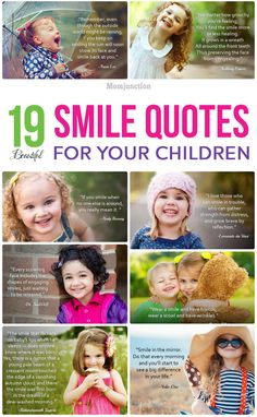 There is nothing more beautiful than smiling & making others smile. Here we've 30 of the most beautiful kids smile quotes from eminent personalities. Read on