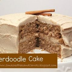 Snickerdoodle Cake-starts with a boxed cake mix (Johns Birthday!) .