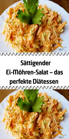 Sättigender Ei Möhren Salat – das perfekte Diätessen If you are also a salad fan then you have to try this salad. It tastes slightly of garlic, contains egg and is mainly made from carrots. Chicken Salad Recipes, Healthy Salad Recipes, Lunch Recipes, Diet Recipes, Healthy Lunches, Clean Eating Soup, Clean Eating Recipes, Carrot Salad, German Recipes