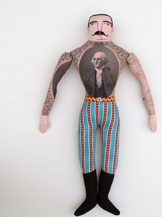 patriotic tattooed man 2 by Mimi K, via Flickr