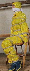Rainbound - Rainwear Bondage with the Pvc & Rubber Clad Weathergirls - Preview Page