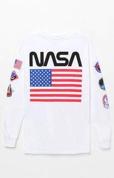 PacSun null NASA Patch Long Sleeve T-Shirt  nasa  tshirt  womensfashion   288dd94f4