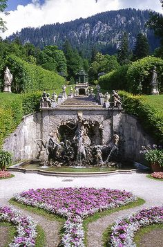 Better than Schloss Neuschwanstein, my friend Castle Linderhof - - by Places Around The World, Oh The Places You'll Go, Places To Travel, Places To Visit, Around The Worlds, Beautiful Castles, Beautiful World, Wonderful Places, Beautiful Places