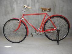[逸]★昭和 レトロ 赤い 〒 郵便 局 自転車 実用 ツノダ Always_画像1