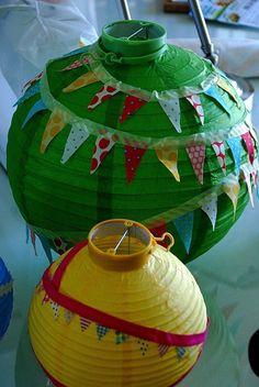 washi tape lanterns