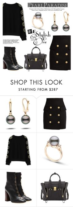 """Be stylish by Pearl Paradise"" by pearlparadise ❤ liked on Polyvore featuring Balmain, E L L E R Y and 3.1 Phillip Lim"