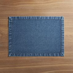 Free Shipping.  Shop Denim Placemat.  Create a rugged, rustic backdrop for your next barbecue with this cotton placemat made out of casual, classic blue denim.