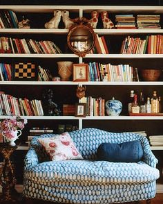 Comfortably Cluttered Library   photo by Melanie Acevedo   House & Home #books #home_library