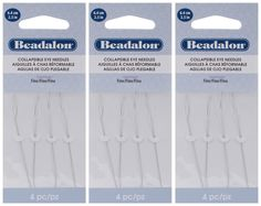 BN12 Beading Needles 6 Packs of 25pc Size 12 150