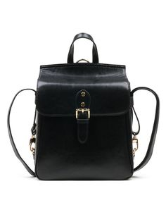 Black Stylish Leather Backpack for Ladies I found this beautiful item on VIPme.com.Check it out!