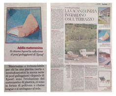 INPOOL, la nuova seduta galleggiante di Xpouf, su La Stampa del 7 maggio 2016 In collaborazione con @gassensi