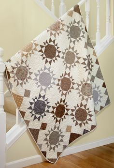 Martingale - Spotlight on Neutrals (Print version + eBook bundle) Pretty colors! Neutral Quilt, Grey Quilt, Star Quilts, Quilt Blocks, Star Blocks, Low Volume Quilt, Homemade Quilts, Quilt Modernen, Traditional Quilts