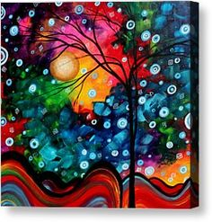 Abstract Landscape Colorful Contemporary Painting By Megan ...