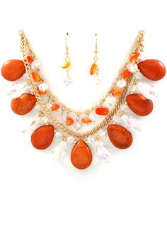 Coral Crystal Manuela Necklace | Emma Stine Jewelry Necklaces
