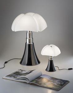 Grande Lampe Pipistrello Titane 14W LED H66-86cm