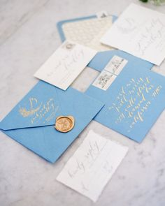 I like the invitation suite if it were a lighter/pastel color. Love the writing and wax seal!-BA Calligraphy Addressing for Wedding/Invitation in Maddy style
