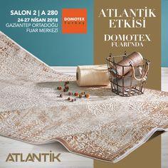 Atlantik Etkisini yakından görmek için siz de Domotex fuarı Atlantik standımıza davetlisiniz. #DomotexTurkey www.atlantikhali.com