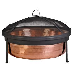 """Hammered Copper Fire Pit - 30"""""""
