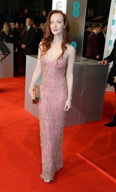 Pin for Later: Stars Go All Out on the BAFTA Awards Red Carpet in London Olivia Grant