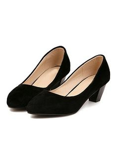 Shop Black Faux Suede Poined Toe Heeled Shoes from choies.com .Free shipping Worldwide.$29.99