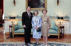 The Reagans with Lady Bird Johnson