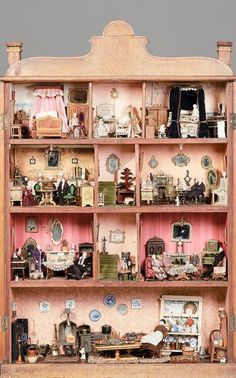 Dutch Cupboard Dolls house, continental circa 1870.  .....Rick Maccione-Dollhouse Builder www.dollhousemansions.com