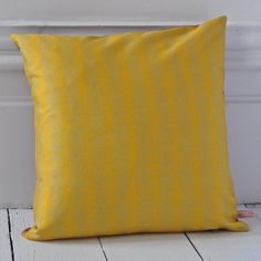 Hand drawn butterfly design, cocoon print in a complimentery colour on the reverse. Butterfly Cushion, Butterfly Design, Hand Printed Fabric, How To Draw Hands, Bloom, Cushions, Throw Pillows, Colour, Yellow