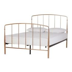 Buy Argos Home Aurelie Double Bed Frame - Rose Gold at Argos. Thousands of products for same day delivery or fast store collection. White Toddler Bed, Toddler Bed Frame, Small Double Bed Frames, Double Beds, Rose Gold Bedroom Wallpaper, Single Bunk Bed, Loft Bunk Beds, Grey Bed Frame, Bed Frame With Storage