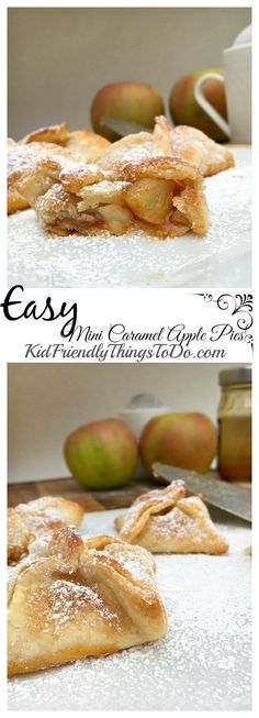 Easy Mini Caramel Apple Pies. You'll be amazed at how easy and tasty these are!  - http://KidFriendlyThingsToDo.com