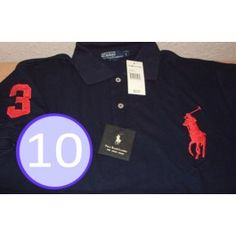 Brand A Lot Of 10 Men Polo Shirt, Big Pony