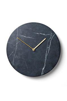 Menu Marble Clock Black | Artilleriet | Inredning Göteborg