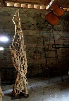 Ivy sculpture , roots  installation