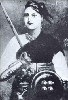 Rani Lakshmi Bai November 1828 – June born in Varanasi and named Manikarnika - was the queen of the Maratha-ruled princely state of Jhansi and one of the greatest warrior and freedom fighter of India. History Of India, Women In History, Ancient Aliens, Freedom Fighters Of India, Warrior Queen, Warrior Princess, Woman Warrior, Berber, Vintage India
