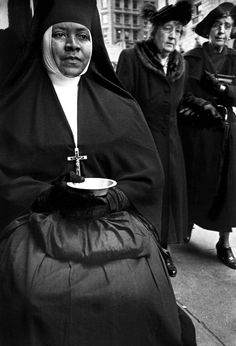 Nun Hoping for Charity by Harold Feinstein