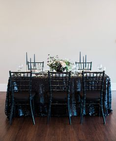 Black Sequin Tablecloth Sequin Table Linen Sequin