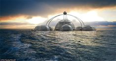 Enclosed Self-Sustaining Floating City: Future of Humanity?
