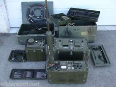 Vietnam-Military-Radio-Lot-Collins-RT-671-PRC-47-HF-Transceiver-Much-More