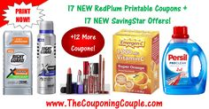 ***17 NEW RedPlum Printable Coupons + 17 NEW SavingStar Offers*** Here is the Complete list of DIRECT LINKS to the NEW RedPlum Printable Coupons and NEW SavingStar offers that you can load to your account! These don't Last long so PRINT NOW! Click the Picture below to get the DETAILED LIST OF DIRECT LINKS ►  http://www.thecouponingcouple.com/new-redplum-printable-coupons-2/  Use the SHARE button below the Picture to SHARE this Deal with your Family and Friends!  Visit