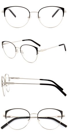 Cat's eye features decorated on round glasses. The ultra-thin stainless steel provides comfortability and stability, you can enjoy your glasses without any concerns. Color options: black, pink, green with gold, black with gold. Thin Frame Glasses, Cute Glasses Frames, Glasses For Round Faces, Womens Glasses Frames, Glasses For Your Face Shape, Lunette Style, Fashion Eye Glasses, Cat Eye Glasses, Designer Eyeglasses