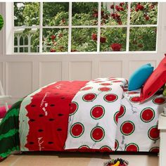 For the true watermelon crazy person, a bed set will confirm your passion