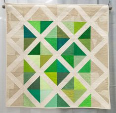 "X by Maria Villar, 2014 | The Modern Quilt Guild: """"This quilt started out because I wanted to try out the Lattice Quilt Block tutorial by Kati of From the Blue Chair"""