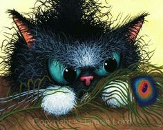 Tamsin Lord artwork. Love the cat's expression!